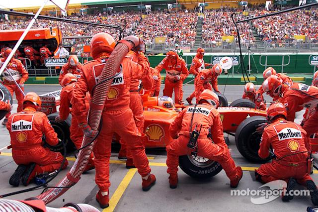 "Parada de pits para Rubens Barrichello <span class=""copyright"">Ferrari Media Center</span>"