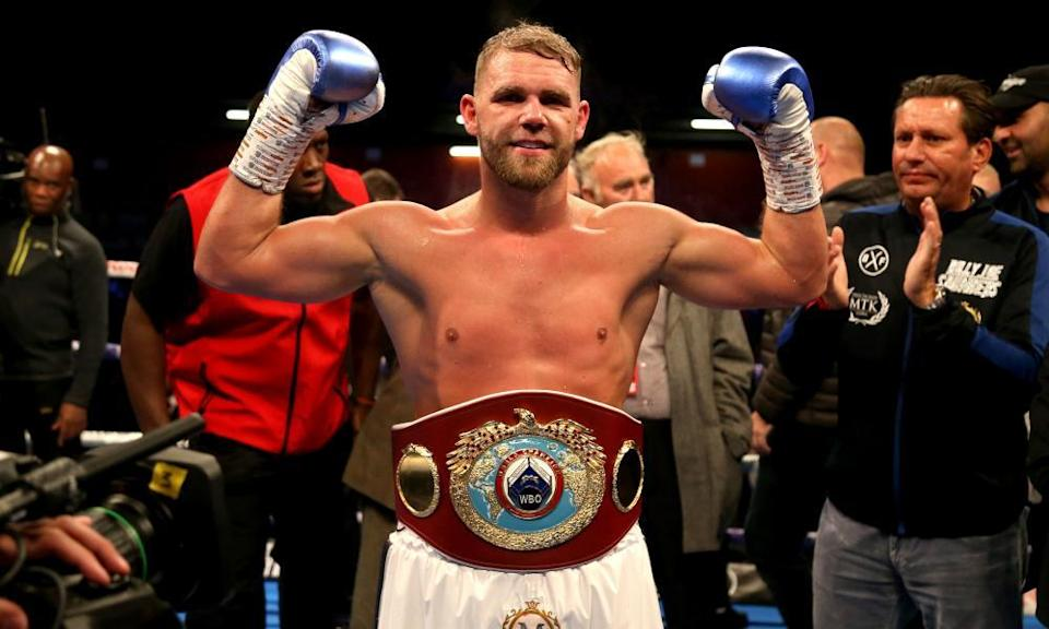 Billy Joe Saunders enters the fight as the WBO world super-middleweight champion