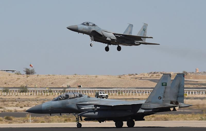 Saudi Arabia has deployed US-manufactured F-15 fighter jets in large numbers for its sometimes controversial bombing campaign in neighbouring Yemen (AFP Photo/FAYEZ NURELDINE)