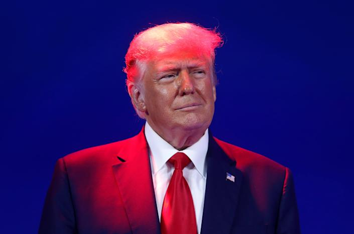 <p>Former US President Donald Trump speaks at the Conservative Political Action Conference in Orlando, Florida</p> (REUTERS)