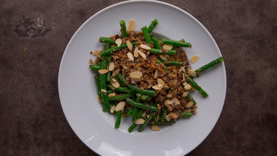 Zimmern's healthier spin on green bean casserole.