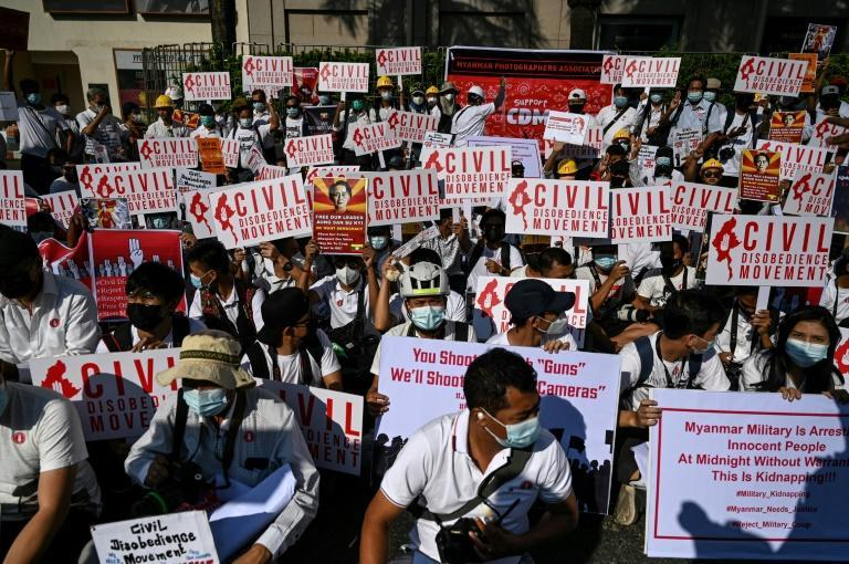 Since taking Suu Kyi and her top allies into custody, troops have stepped up arrests of civil servants, doctors and others joining strikes calling on the generals to relinquish power