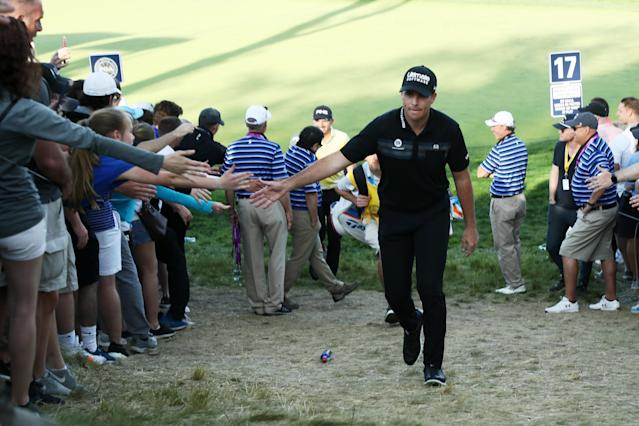 With Brooks Koepka firmly in control, golfers find other motivations.