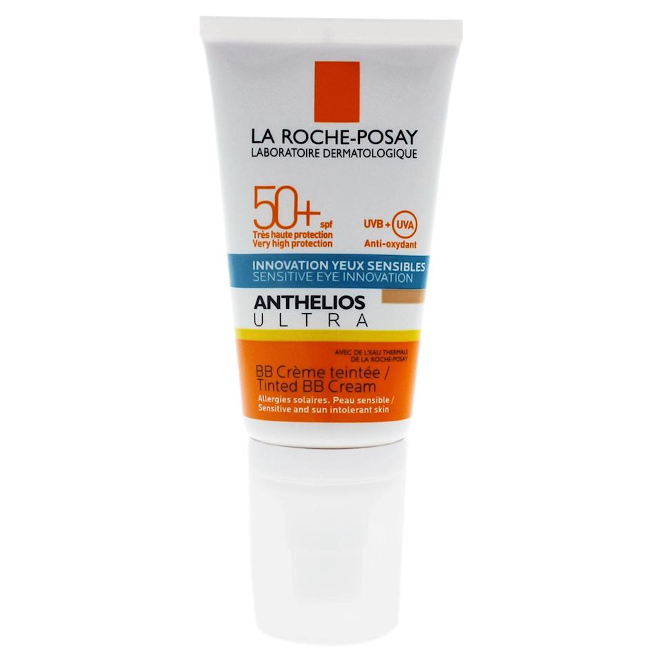 """<p><strong>La Roche-Posay</strong></p><p>walmart.com</p><p><strong>$23.60</strong></p><p><a href=""""https://go.redirectingat.com?id=74968X1596630&url=https%3A%2F%2Fwww.walmart.com%2Fip%2F459383101&sref=https%3A%2F%2Fwww.thepioneerwoman.com%2Fbeauty%2Fskin-makeup-nails%2Fg35854718%2Fbest-bb-creams-with-spf%2F"""" rel=""""nofollow noopener"""" target=""""_blank"""" data-ylk=""""slk:Shop Now"""" class=""""link rapid-noclick-resp"""">Shop Now</a></p><p>If you need a little extra SPF love, this SPF 50 BB cream is probably the one for you. Just keep in mind some reviews have noted that this tinted BB cream does have a slightly darker tint, so might not be best for fairer skin tones. </p>"""