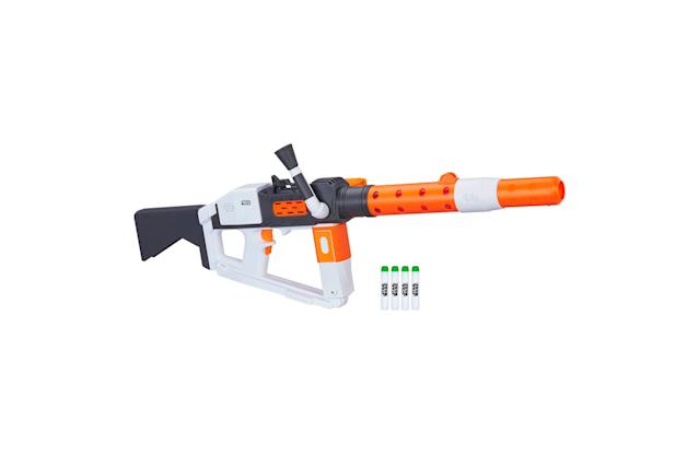 <p>Hunt down the Resistance with this Nerf shooter, one of several <em>Last Jedi</em> models widely available at toy stores. </p>