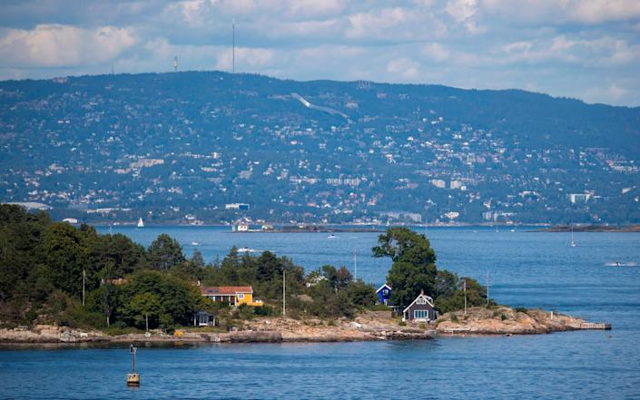 The island of Aspond in the Droebak narrows of the Oslo fjord, south eastern Norway is seen in this July 25, 2020 picture. - Odd Andersen/AFP