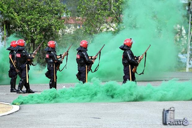 Drill exercises are carried out at the Royal Malaysian Police College in Cheras in preparation for the 14th General Election on March 8, 2018. — Picture courtesy of PDRM