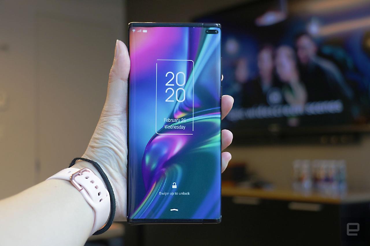 TCL rollable extendable phone mock up