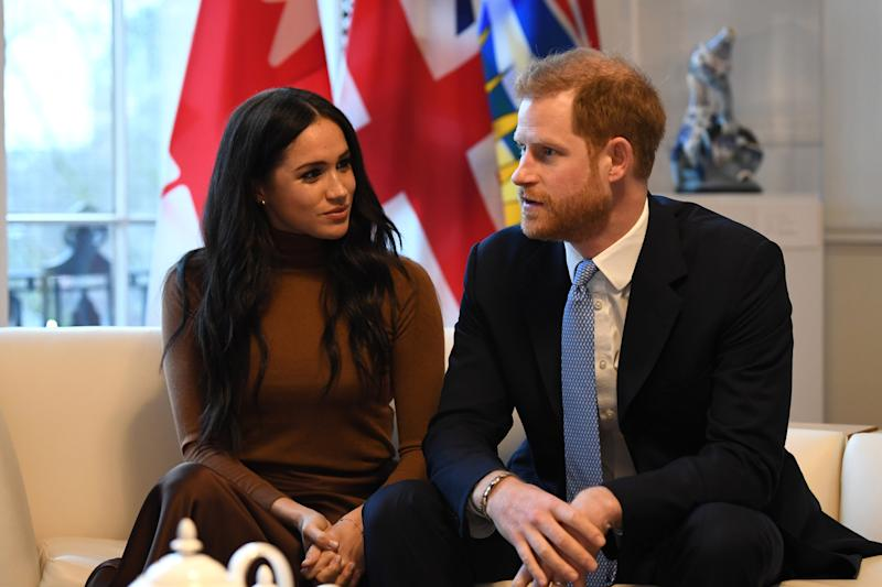 The Duke and Duchess of Sussex during their visit to Canada House, central London, meeting with Canada's High Commissioner to the UK, Janice Charette, as well as staff to thank them for the warm hospitality and support they received during their recent stay in Canada.