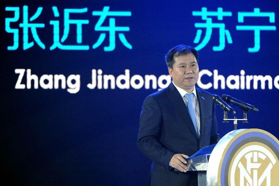 Zhang Jindong, founder and chairman of Shenzhen-listed retailer Suning.com. Photo: AFP