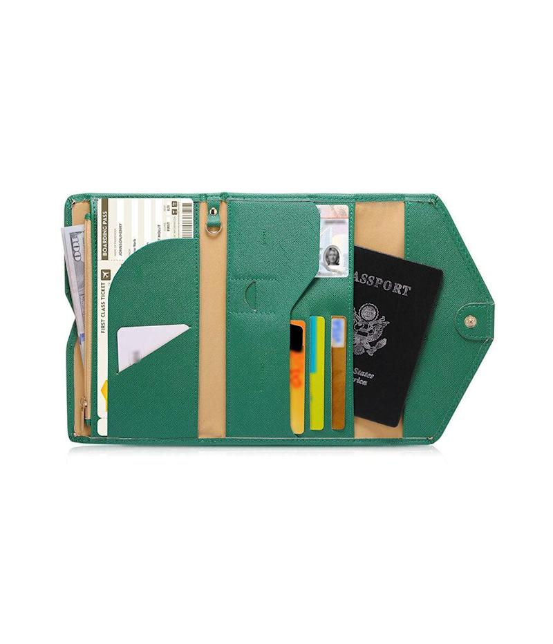 Zoppen Multi-Purpose Rfid Blocking Travel Passport Wallet (Photo: Amazon)