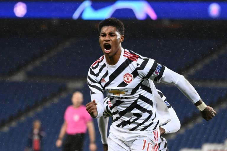 Marcus Rashford's late goal gave Manchester United a 2-1 win away at Paris Saint-Germain in their Champions League Group H opener on Tuesday