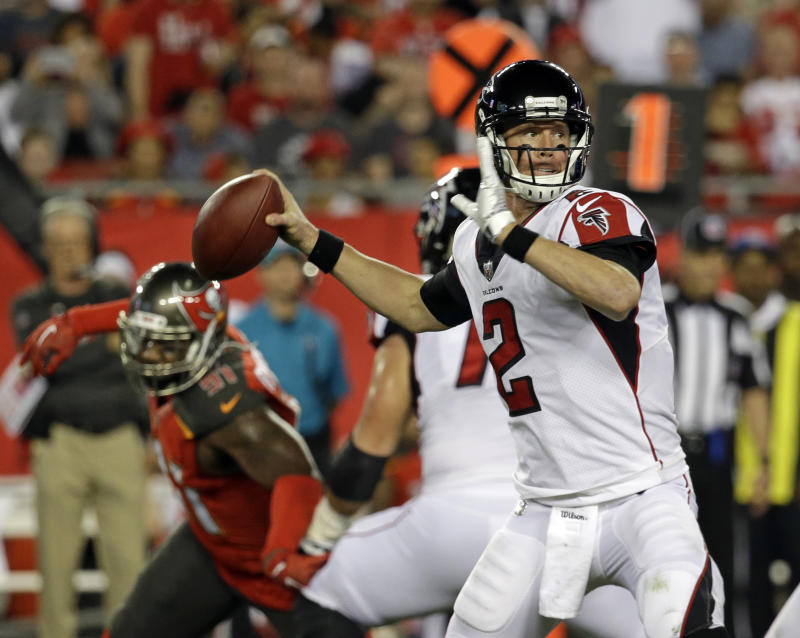Atlanta Falcons quarterback Matt Ryan was upset at a teammate Monday night, and everyone heard about it. (AP)