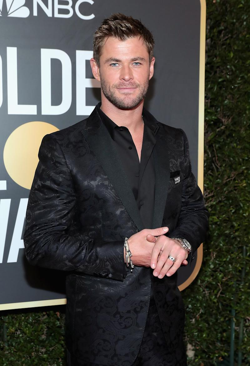 Chris Hemsworth arrives to the 75th Annual Golden Globe Awards held at the Beverly Hilton Hotel on January 7, 2018.