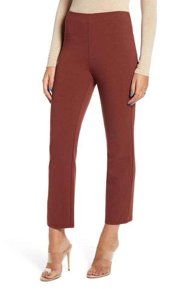 "<p>These <a href=""https://www.popsugar.com/buy/Leith-High-Waist-Slim-Pants-546655?p_name=Leith%20High%20Waist%20Slim%20Pants&retailer=shop.nordstrom.com&pid=546655&price=29&evar1=fab%3Auk&evar9=47181671&evar98=https%3A%2F%2Fwww.popsugar.com%2Ffashion%2Fphoto-gallery%2F47181671%2Fimage%2F47181674%2FLeith-High-Waist-Slim-Pants-in-Mocha&list1=shopping%2Cnordstrom%2Cwinter%2Ceditors%20pick%2Cpants%2Cwinter%20shopping&prop13=api&pdata=1"" rel=""nofollow"" data-shoppable-link=""1"" target=""_blank"" class=""ga-track"" data-ga-category=""Related"" data-ga-label=""https://shop.nordstrom.com/s/leith-high-waist-slim-pants/5153057/full"" data-ga-action=""In-Line Links"">Leith High Waist Slim Pants</a> ($29, originally $49) in the mocha shade are great for the office.</p>"