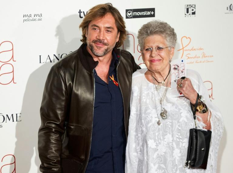 Pilar Bardem (pictured in 2015 with her son Javier) acted in dozens of films and television series and won a Goya for her role in 'Nobody Will Speak of US When We're Dead'