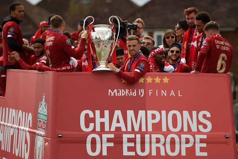 Liverpool parade Champions League trophy after victorious ...
