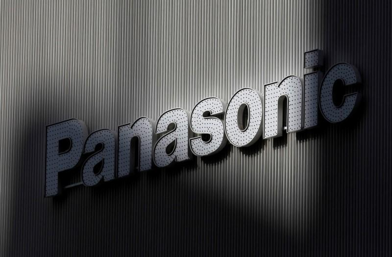 Panasonic's logo is seen on a wall of an electronic shop in Tokyo