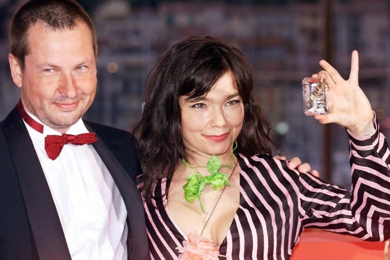-Danish director Lars Von Trier (L), at the 2000 Cannes Film Festival with Icelandic pop star and actress, Bjork (R),  has denied her allegations of sexual harassment by an unnamed director from Denmark