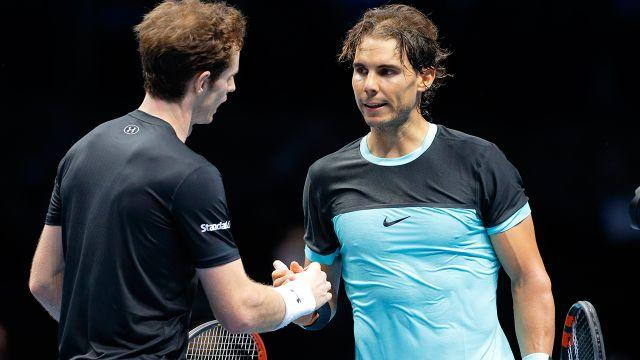 Murray and Nadal. Image: Getty