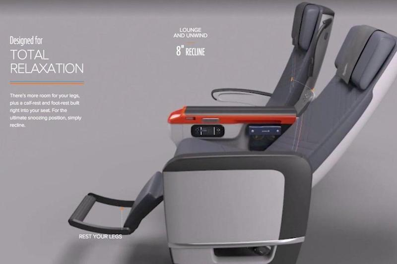 Singapore Airlines' premium economy class seats (Singapore Airlines)