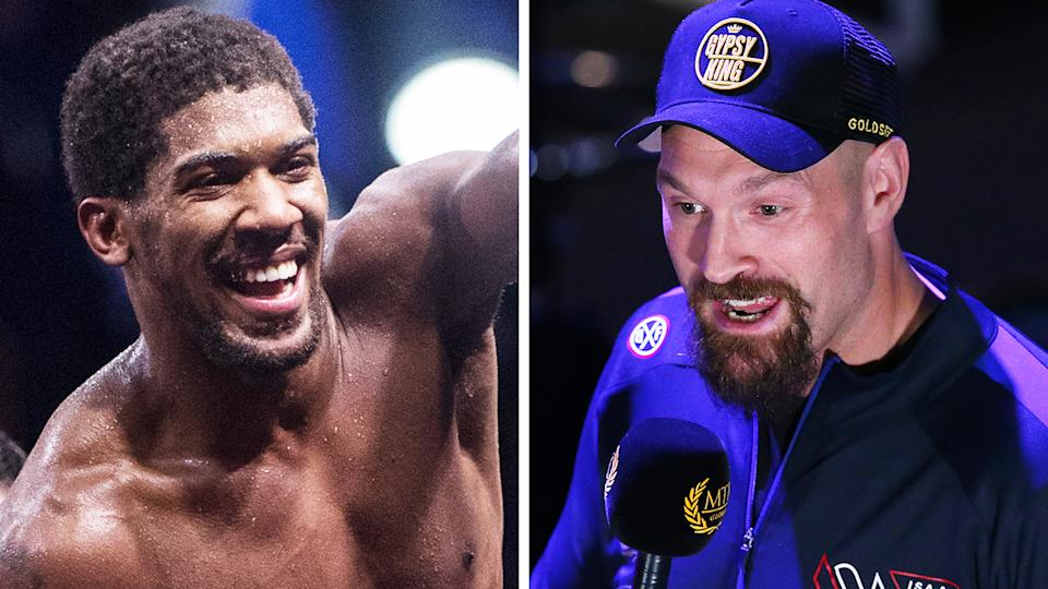 Anthony Joshua and Tyson Fury have reportedly agreed on a two-fight deal, despite Fury insisting as recently as last week that he was unaware of any deal forthcoming. Pictures: Getty Images