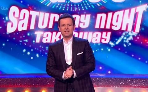 Declan Donnelly presenting Saturday Night Takeaway on his own for the first time - Credit: ITV?PA