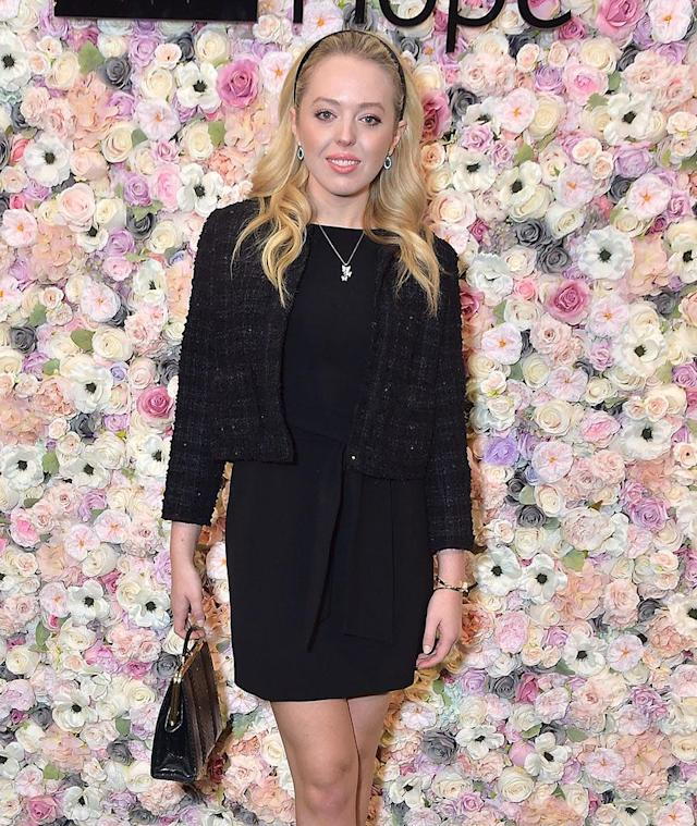 It will be fewerfashion shows and more lectures for Tiffany Trump, pictured here at Spirit of Life Award Luncheon & Fashion Show today. She'll be attending Georgetown Law School this fall. (Photo: Getty Images)