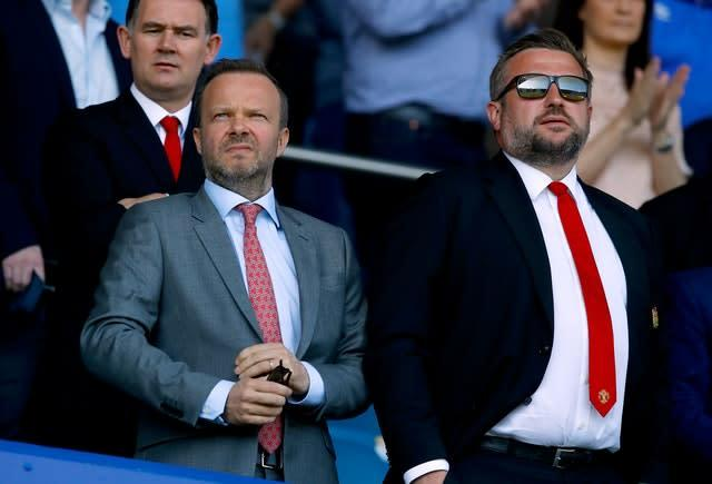 Ed Woodward and Richard Arnold have been speaking to investors after Manchester United announced their Q3 results (Martin Rickett/PA)