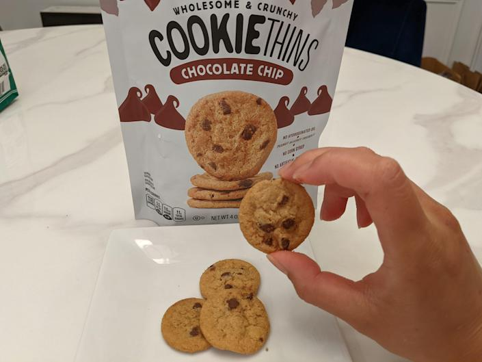 Aldi cookie things in bag and on white plate