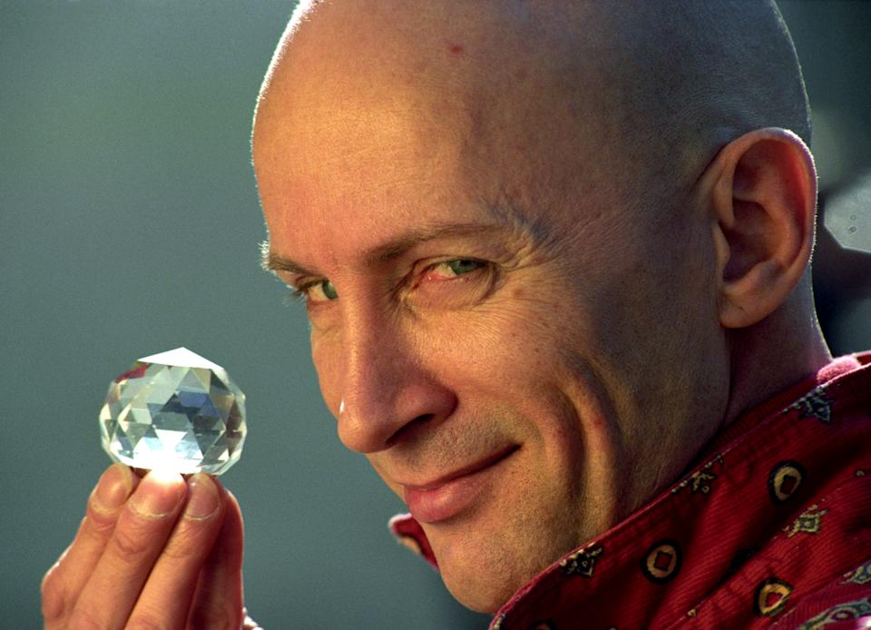 """Rocky Horrow Show creator, Richard O'Brien during a photocall at Channel Four television for a new series of his show """" The Crystal Maze"""".   (Photo by Adam Butler - PA Images/PA Images via Getty Images)"""