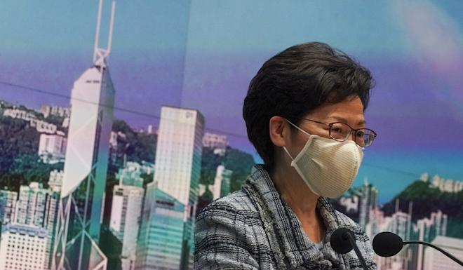 Chief Executive Carrie Lam is one of 10 Hong Kong and mainland officials accused by the US of helping to undermine the city's autonomy. Photo: Felix Wong