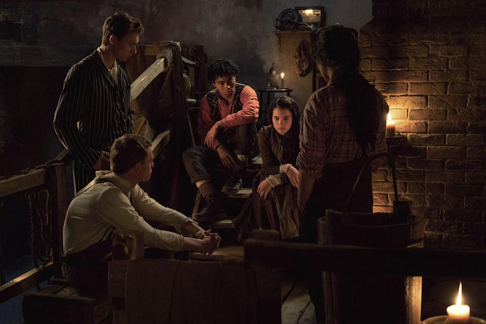 """<em><strong>The Irregulars</strong></em> (2021)<br><br><em>Sherlock</em> fans will want to set a reminder for the start of Netflix's new teen drama, <em>The Irregulars. </em>Taking place in Victorian London, the series tells the story of a group of youngsters who are forced to solve crimes for the scary Doctor Watson and mysterious Mr Holmes. As dark magic and supernatural events start to take control, it becomes the responsibility of the gang to work together to save the world. <br><br>Available 26th March<span class=""""copyright"""">Photo Courtesy of Netflix.</span>"""