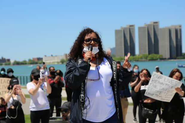 Joi Hurst is with the Coalition for Justice Unity Equity. She said a lot of people were hurting, so that's why they organized the walk.