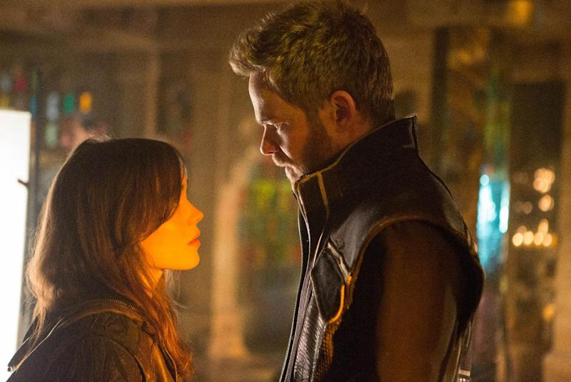 "This photo released by Twentieth Century Fox shows Ellen Page, left, as Kitty Pryde and Shawn Ashmore as Iceman in Twentieth Century Fox and Marvel's ""X-Men: Days of Future Past."" (AP Photo/Twentieth Century Fox/Marvel, Alan Markfield)"