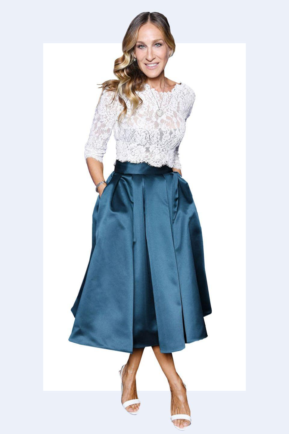 """<p>""""I think that after a certain age your skirt should really be at or below the knee, <strong>no matter how beautiful your legs are</strong>. It looks more appropriate and it doesn't look like you're trying to look young."""" -<em><a rel=""""nofollow noopener"""" href=""""https://www.studiocavaco.com/"""" target=""""_blank"""" data-ylk=""""slk:Paul Cavaco"""" class=""""link rapid-noclick-resp"""">Paul Cavaco</a></em></p>"""