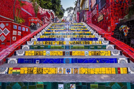 Snap some selfies on the Escadaria Steps (Getty)
