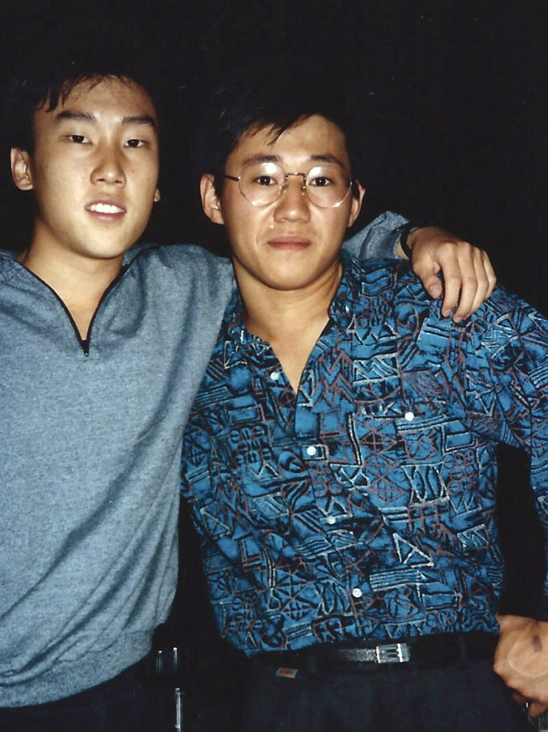 FILE - This 1988 file photo provided by Bobby Lee shows Kenneth Bae, right, and Bobby Lee together when they were freshmen students at the University of Oregon.   North Korea says a Kenneth Bae, who was sentenced  to 15 years' hard labour, smuggled in unspecified inflammatory literature and tried to establish a base for anti-Pyongyang activities at a hotel in the border city of Rason. The statement late Thursday, May 9, 2013 from an unidentified Supreme Court spokesman,  provides the most in-depth look so far of Pyongyang's allegations against Kenneth Bae.  Analysts say Pyongyang may be using Bae as bait to gain direct talks with Washington. (AP Photo/The Register-Guard, Bobby Lee, File)