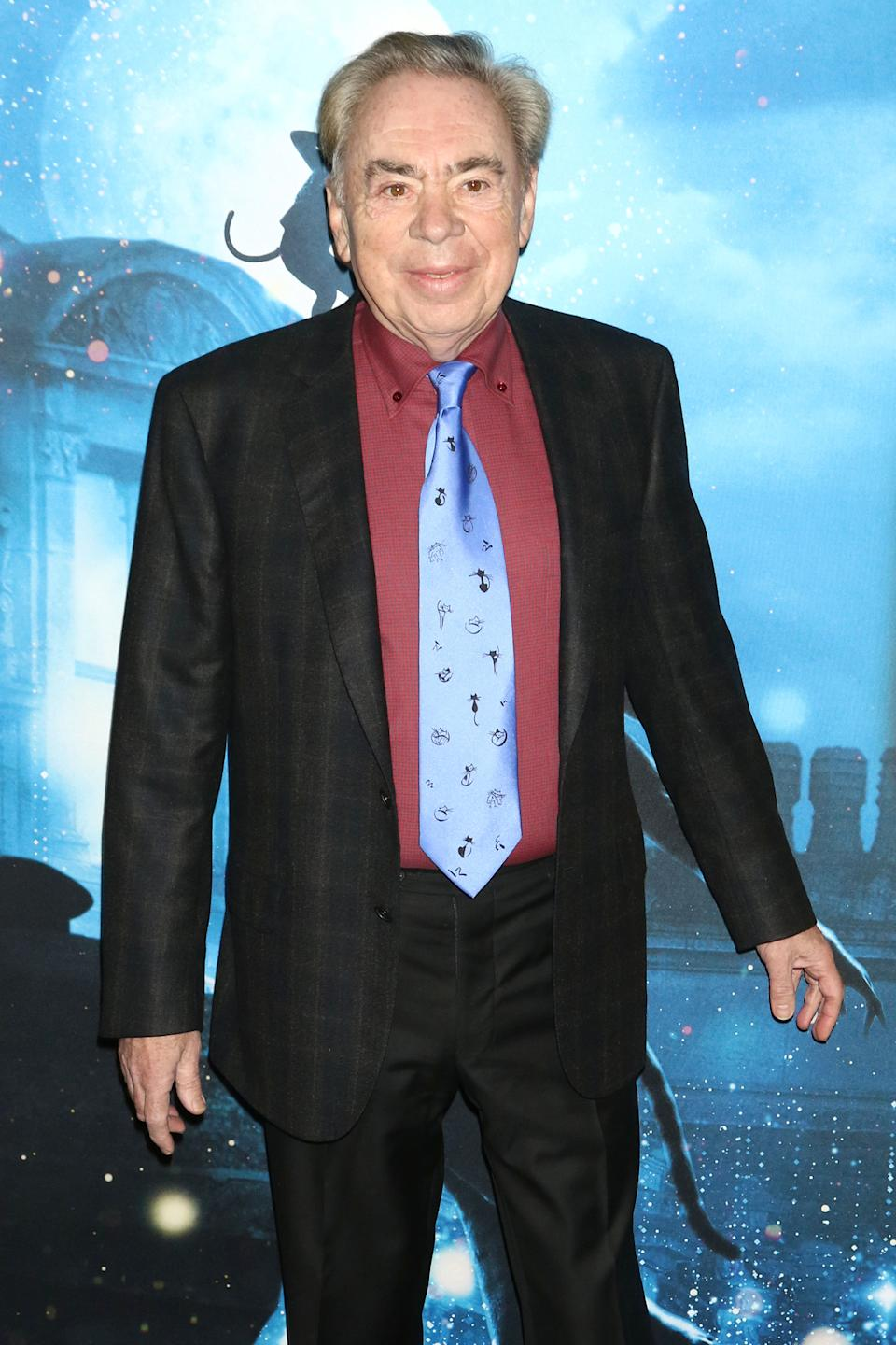 "Andrew Lloyd Webber attends the premiere of ""Cats"" at Alice Tully Hall in New York."