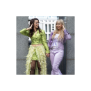 """<p>You heard it here first: When it comes to fun BFF costumes, this is what dreams are made of. (And okay, fine the movie came out in 2003, but the lewks are '90s adjacent).</p><p><a class=""""link rapid-noclick-resp"""" href=""""https://www.amazon.com/No-Fuze-Womens-Stretch-Lavender/dp/B07CPNFZLY?tag=syn-yahoo-20&ascsubtag=%5Bartid%7C10072.g.37059504%5Bsrc%7Cyahoo-us"""" rel=""""nofollow noopener"""" target=""""_blank"""" data-ylk=""""slk:SHOP PANTS"""">SHOP PANTS</a></p>"""