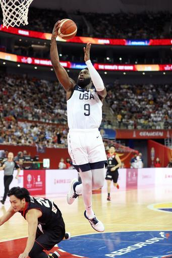 SHANGHAI, CHINA - SEPTEMBER 5: Jaylen Brown #9 of USA goes to the basket against Japan during the First Round of the 2019 FIBA Basketball World Cup on September 5, 2019 at the Shanghai Oriental Sports Center in Shanghai, China. (Photo by Nathaniel S. Butler/NBAE via Getty Images)