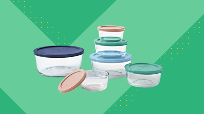 Macy's just dropped the price on an array of items, including this Pyrex 12-Piece Storage Set.