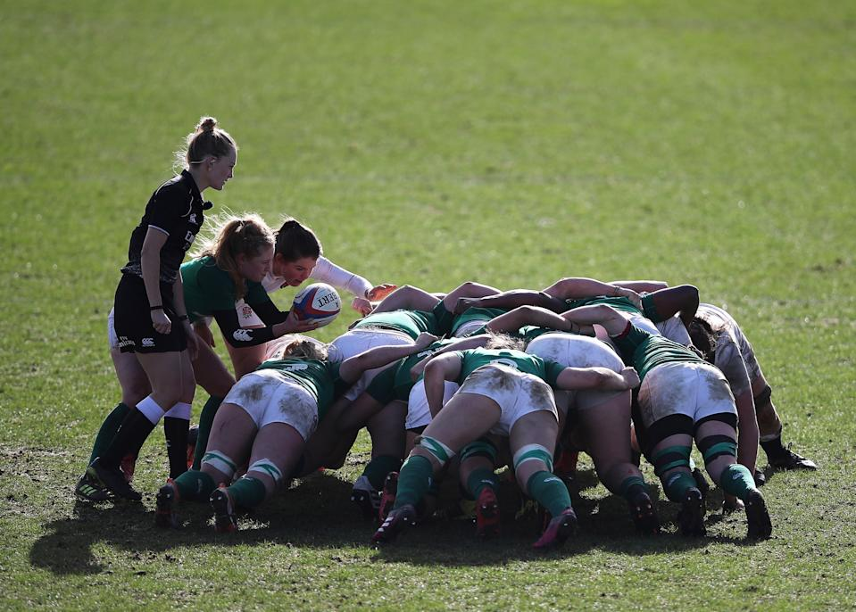 Ireland kicked off their 2021 Women's Six Nations campaign with a 45-0 victory over so-far winless Wales © Action Images via Reuters