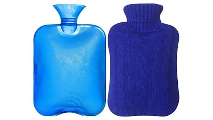 Hot water bottles can also be frozen to help keep you cool.