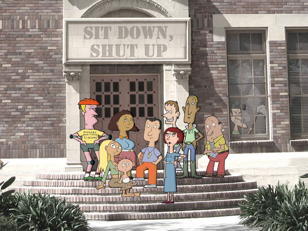 """<a href=""""/sit-down-shut-up/show/43005"""">""""Sit Down, Shut Up,""""</a> a new animated comedy follows the lives of eight egocentric, insecure, and wildly immature staffers at a high school in a Northeastern fishing town. Their motto? The children always come second. From the accident-prone principal to the medicated vice principal to the ostracized gym teacher (voiced by Jason Bateman) to the very jaded, aging German teacher (voiced by Henry Winkler), one thing is clear: These public servants are wacky, miserable, and totally unfit to mentor children. Good luck, kids!"""