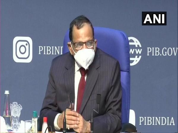 Dr VK Paul, NITI Aayog member during press conference in New Delhi on Tuesday. (Photo/ANI)