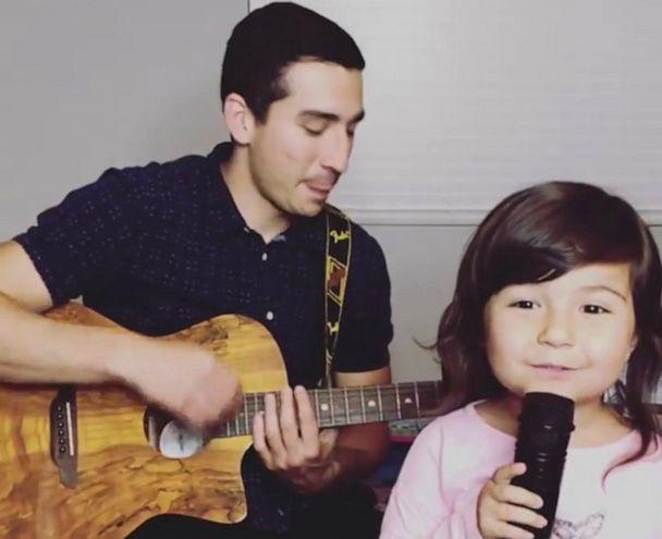 PHOTO: The father-daughter duo love to cover popular songs. (Courtesy Nick Casas)