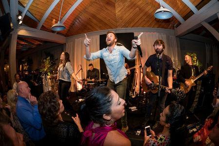 Lady Antebellum performs at the Mercedes-Benz USA hospitality area at River Island in Augusta, Georgia, April 5, 2017. Jensen Larson Photography/Mercedes-Benz USA - 2017 Masters Experience/Handout via REUTERS
