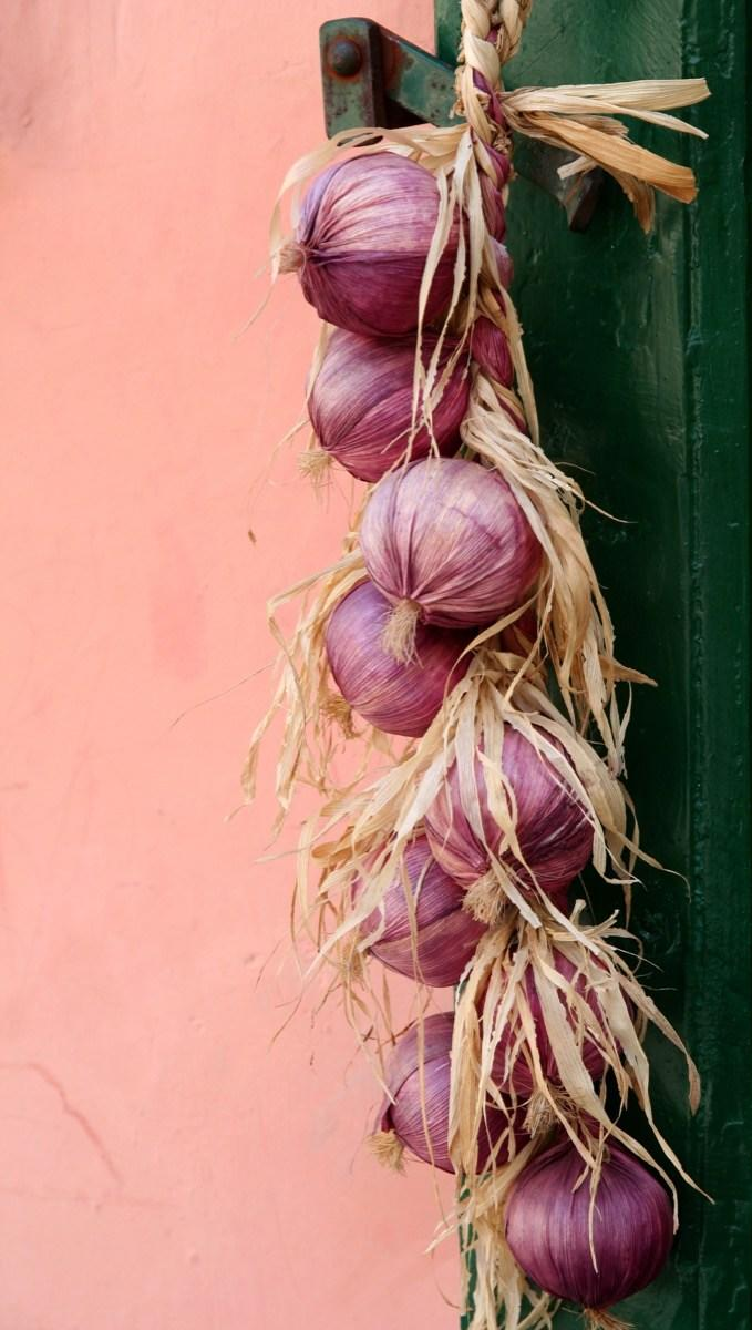 Onions Hanging From a Door {New Years Eve Traditions}