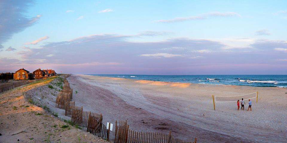 """<p>One of the best beaches in New York is the famed Fire Island. Known for being a great summer getaway for beachgoers in the LGBTQ+ community, the island has plenty to offer for every type of traveler.</p><p>The tranquility and natural beauty of Fire Island is also unmatched. Whether you're looking for peace or a party, this beach locale has it all.<br></p><p><a class=""""link rapid-noclick-resp"""" href=""""https://go.redirectingat.com?id=74968X1596630&url=https%3A%2F%2Fwww.tripadvisor.com%2FHotel_Review-s1-g48317-d618098-Reviews-The_Palms_Hotel_Fire_Island-Ocean_Beach_Fire_Island_Long_Island_New_York.html&sref=https%3A%2F%2Fwww.redbookmag.com%2Flife%2Fg34756735%2Fbest-beaches-for-vacations%2F"""" rel=""""nofollow noopener"""" target=""""_blank"""" data-ylk=""""slk:BOOK NOW"""">BOOK NOW</a> The Palms Hotel Fire Island</p><p><a class=""""link rapid-noclick-resp"""" href=""""https://go.redirectingat.com?id=74968X1596630&url=https%3A%2F%2Fwww.tripadvisor.com%2FHotel_Review-s1-g4761402-d121850-Reviews-Fire_Island_Hotel_and_Resort-Ocean_Bay_Park_Fire_Island_Long_Island_New_York.html&sref=https%3A%2F%2Fwww.redbookmag.com%2Flife%2Fg34756735%2Fbest-beaches-for-vacations%2F"""" rel=""""nofollow noopener"""" target=""""_blank"""" data-ylk=""""slk:BOOK NOW"""">BOOK NOW</a> Fire Island Hotel & Resort</p>"""